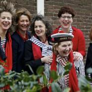 The making of van het bestuur 2014 samen met de oprichtster van het koor  Lucy van Vrijberghe – de Coningh